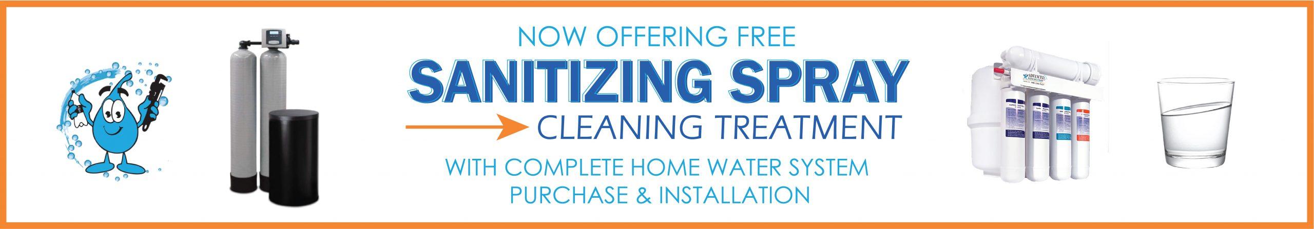 Sanitizing Spray Cleaning Treatment