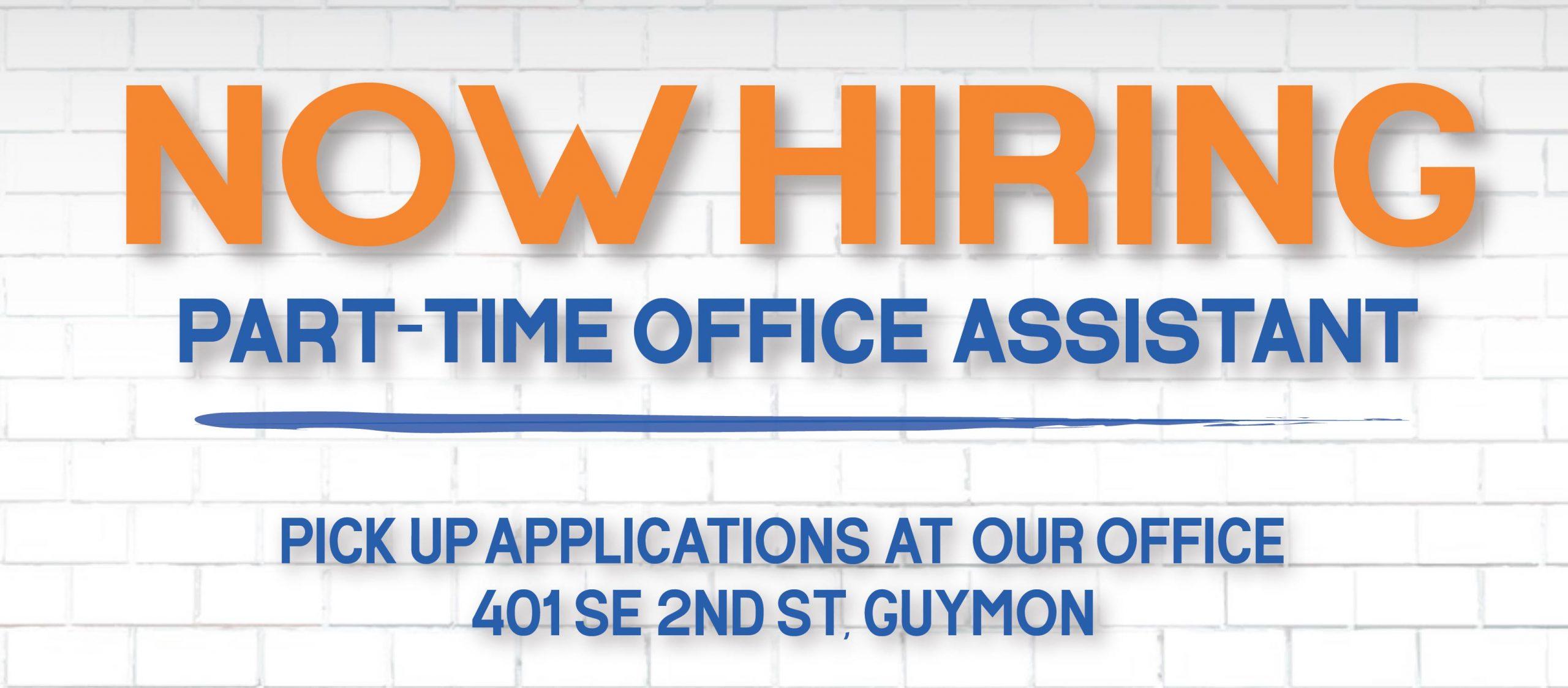 Website Banner - Hiring Office Assistant-01