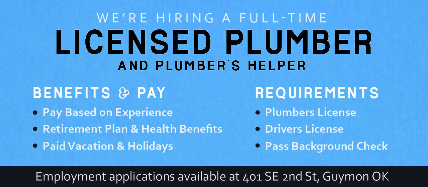 Hiring Plumber & Helper 820x360-01